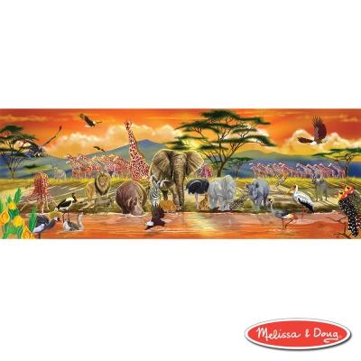 美國 Melissa & Doug 大型地板拼圖 - 非洲草原【100 片】