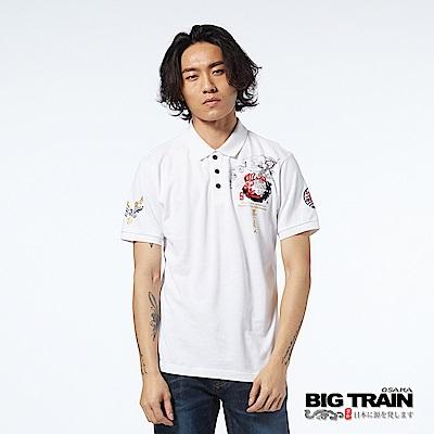 BIG TRAIN 武將關雲長POLO衫-男-漂白