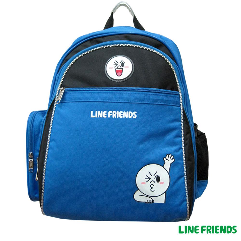 【LINE FRIENDS】MIT 成長型護脊後背書包(饅頭人_LI5333)