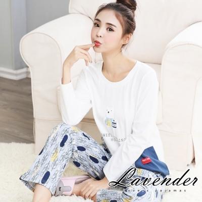睡衣 可愛小熊居家情侶款睡衣(女)Lavender