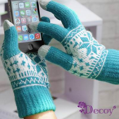 Decoy 浪漫雪花 男女觸控針織手套 (4色可選)