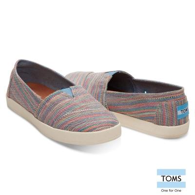 TOMS 線條織紋休閒鞋-女款