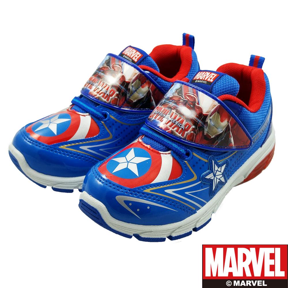 MARVEL 漫威 童 美國隊長 電燈運動鞋 (藍)