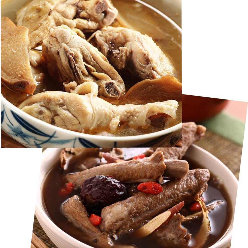 《百年吳家》廟口經典雙拼組合(麻油雞+藥燉排骨)