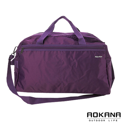 AOKANA奧卡納 MIT台灣製造 輕量防潑水大型旅行袋(葡萄紫)03-010