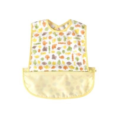 Hoppetta 波爾卡收納式餐圍兜(無袖-黃)