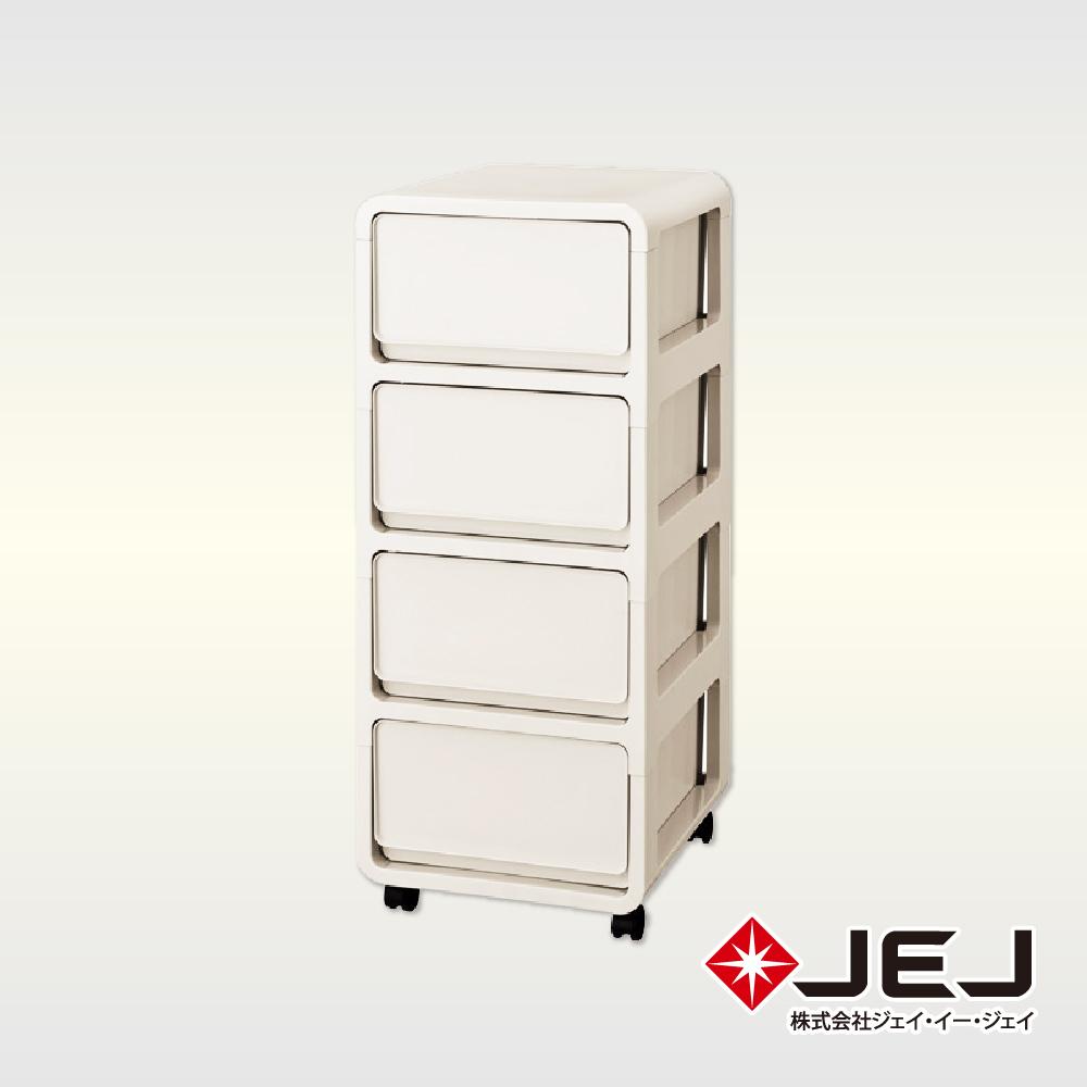 日本JEJ PREEK系列 多層組合滑輪抽屜櫃/4抽 4色可選