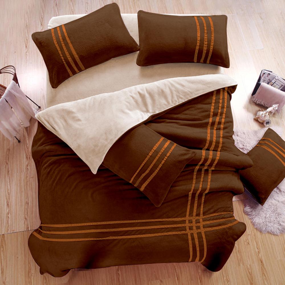 生活提案 衝浪沙灘 珊瑚絨 單人三件式兩用被床包組