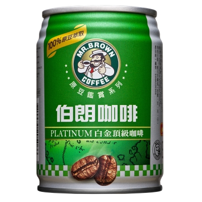 金車 伯朗咖啡原豆鑑賞系列-白金頂級(240mlx24罐)