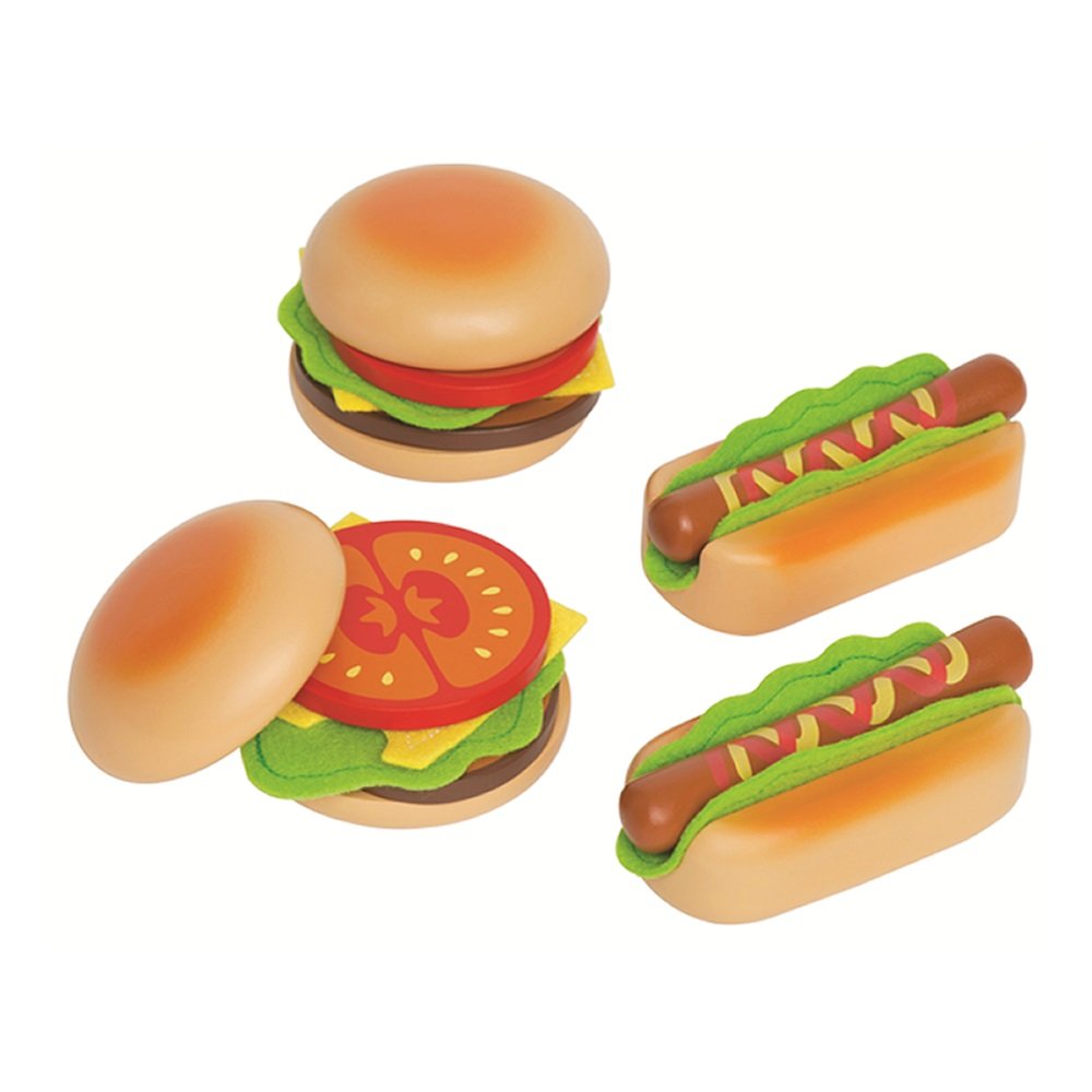 德國educo愛傑卡 角色扮演廚房系列 - 主廚漢堡&熱狗