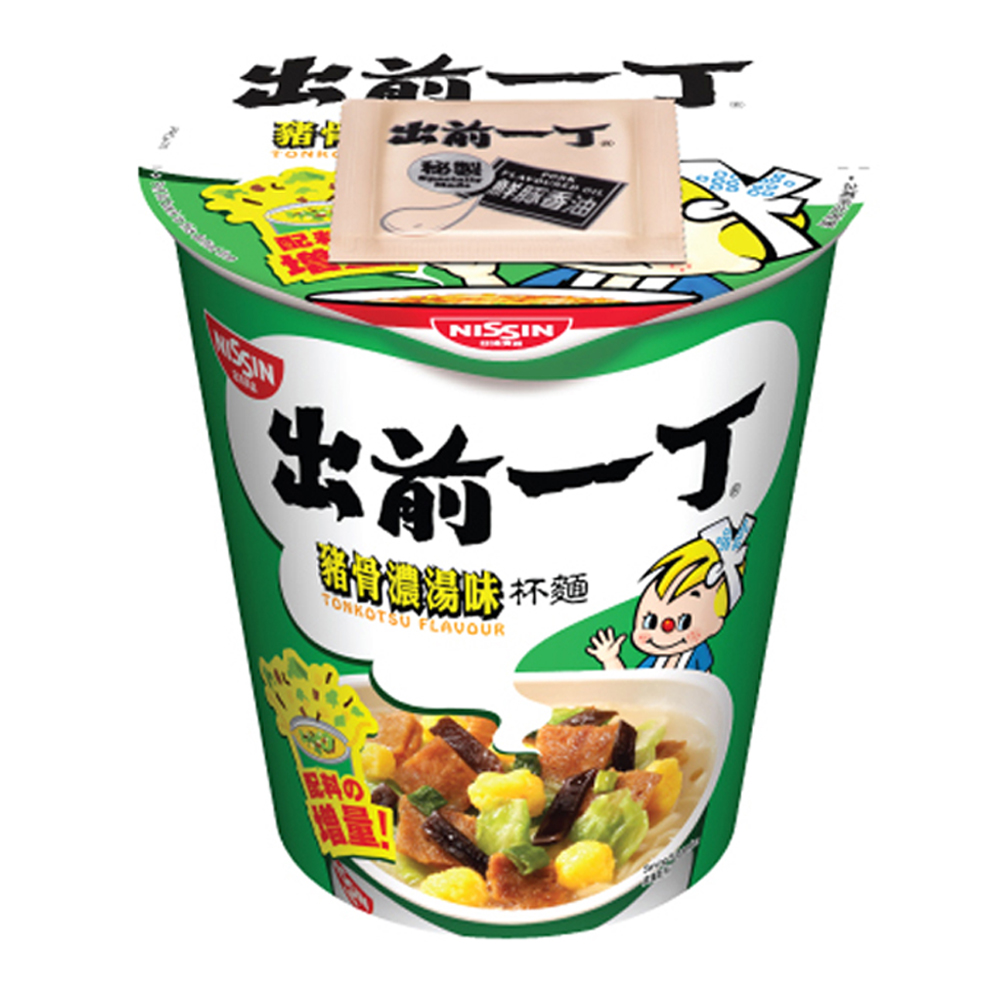 日清 出前一丁豬骨濃湯味即食麵杯麵(77g)