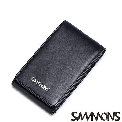 SAMMONS  真皮傑克森簡約明片夾 紳士黑
