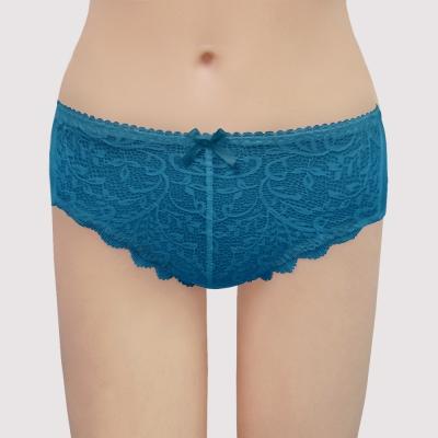瑪登瑪朵 無敵美G  中腰三角棉內褲(古董藍)
