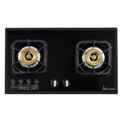 和成HCG 雙環銅合金爐蓋鑄鐵爐架強化玻璃檯面式二口瓦斯爐(GS297Q)