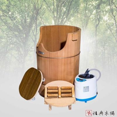 雅典木桶 珍貴國寶級檜木 泡腳桶(高64CM)
