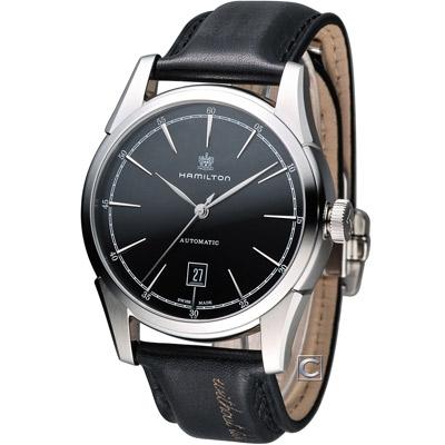 Hamilton America Classic 自由精神機械錶-黑/42mm