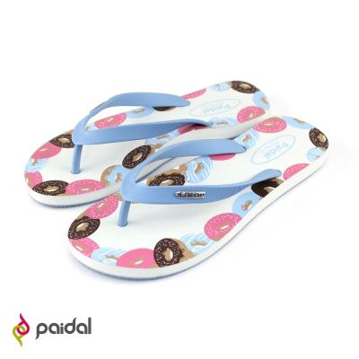 Paidal甜甜圈足弓夾腳拖鞋-天藍