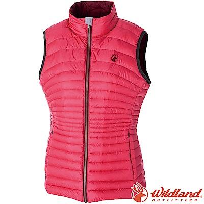 Wildland 荒野 0A52171-17嫣紅 女700FP輕量時尚羽絨背心