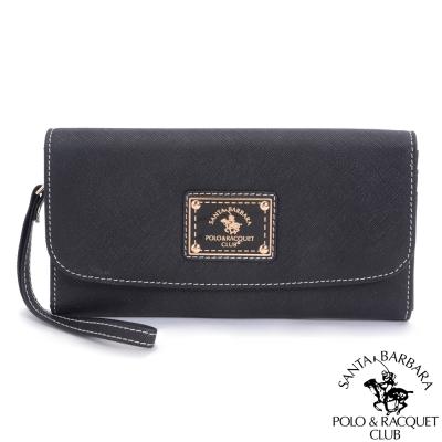 SANTA BARBARA POLO -幸福微糖12卡手拿長夾(黑色)