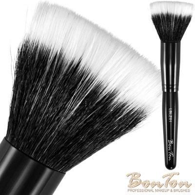 BonTon 墨黑系列 雙層粉底刷/腮紅刷 (L) LBLZ01 羊毛混合化纖毛