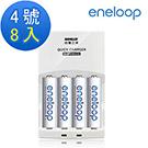 Panasonic eneloop低自放電充電電池組(4號8入+智慧型充電器)