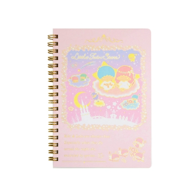 Sanrio 雙星仙子40週年快樂紀念日系列B6線圈筆記本(粉彩小妖精)
