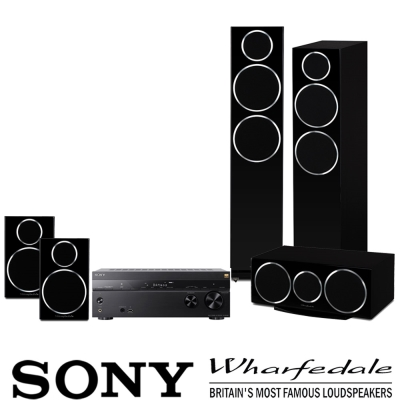 SONY STR-DN1080擴大機 +Wharfedale Diamond200系列-黑