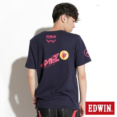 EDWIN-聯名款-無敵鐵金剛肖像及指揮艇印花短袖