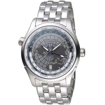 Hamilton JAZZMASTER GMT世界圖騰機械腕錶 H3260518-42mm