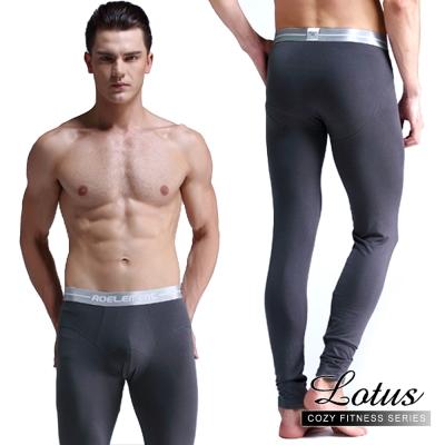 保暖褲  緊身純色縮口保暖褲 -灰色LOTUS