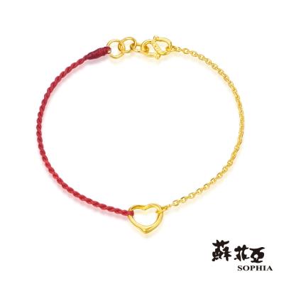 蘇菲亞SOPHIA - G LOVER系列經典心型黃金手環