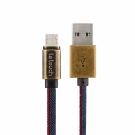 Le touch  Micro USB 單寧牛仔風充電線MD20-20CM