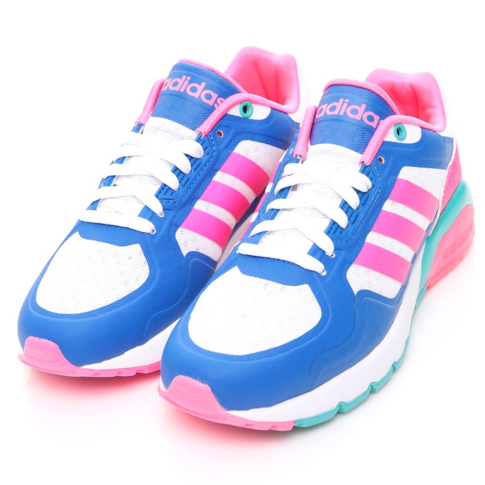 24H-ADIDAS-女休閒鞋F99048-白藍粉