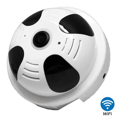 【CHICHIAU】WIFI無線全景偵煙器造型環景360度紅外夜視網路攝影機