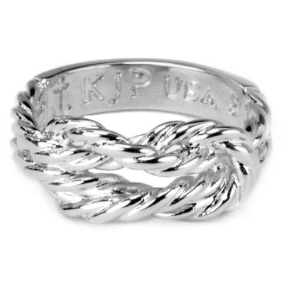 Kiel James Patrick 手工水手繩結造型銀色戒指