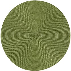 NOW 素面織紋圓餐墊(橄欖綠)