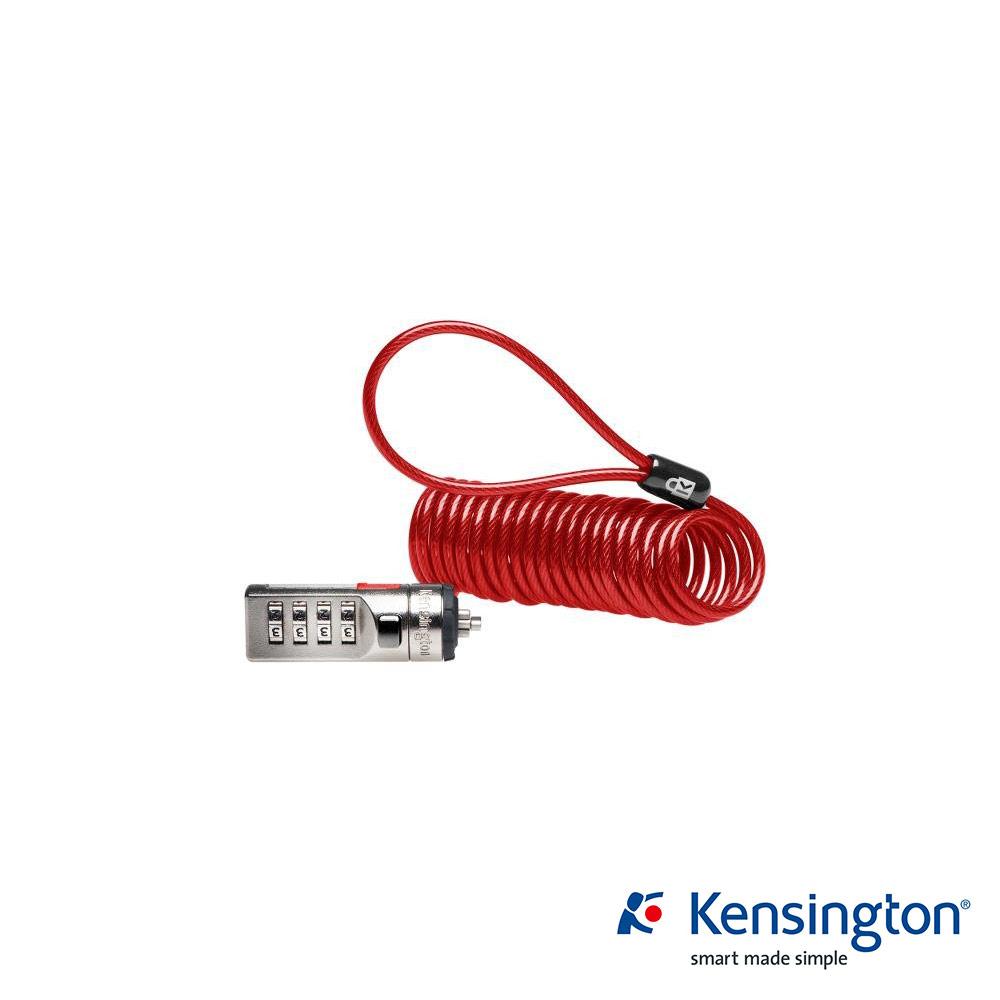 Kensington K64671US 行動型鋼纜密碼電腦鎖-紅色