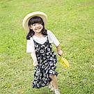 親子款~細肩帶滿版印花V領傘襬洋裝-OB大尺碼