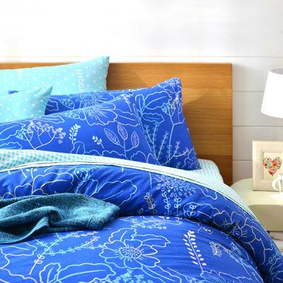 美夢元素 精梳純棉兩用被床罩組-雙人(美麗陽光)