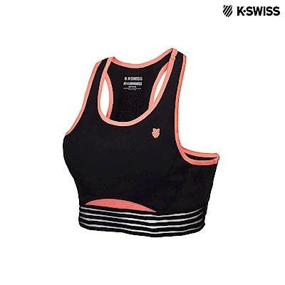 K-Swiss Sports Bra運動內衣-女-黑/橘