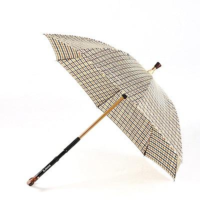 【ATUNAS 歐都納】多用型雨傘拐杖WSK-1601卡其格/防曬遮陽擋雨/抗強風