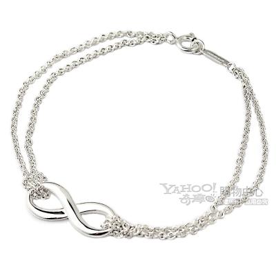 TIFFANY&Co. INFINITY 無限的愛 925純銀雙鍊手鍊