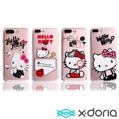 X-doria-iPhone7 Plus(5.5)保護手機硬殼-知趣凱蒂系列