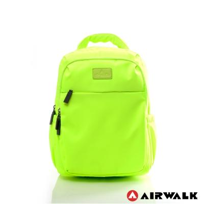 AIRWALK-晴艷彩耀極輕便隨掛行李箱拉桿之旅行後背包-艷陽瑩黃
