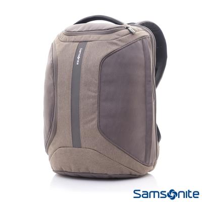 Samsonite新秀麗-Garde多功能側開式通風型肩背帶筆電後背包-15-6吋-灰