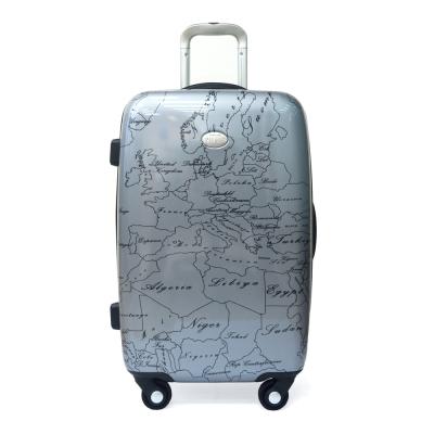 Alviero Martini 義大利地圖包 旅行硬殼行李箱 60cm-地圖灰