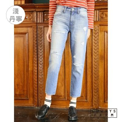 LOWRYS-FARM各式刷破純棉類丹寧牛仔細身褲