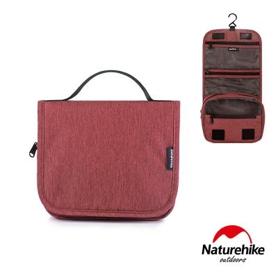 Naturehike 吊掛式萬用旅行收納防水分裝盥洗包 紅色-急