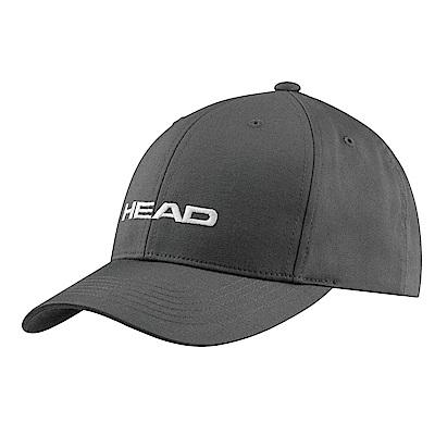 HEAD奧地利 素面可調式 運動帽/棒球帽/遮陽帽-煤灰(2入) 287292