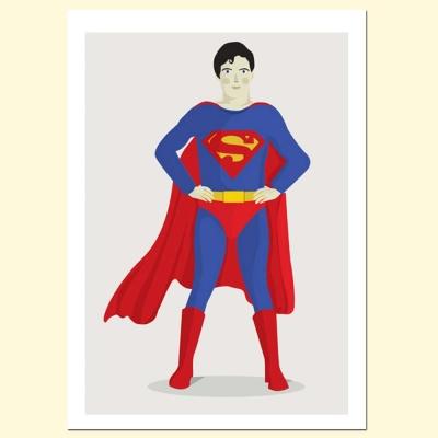 摩達客 西班牙知名插畫家Judy Kaufmann藝術創作海報掛畫裝飾畫-超人